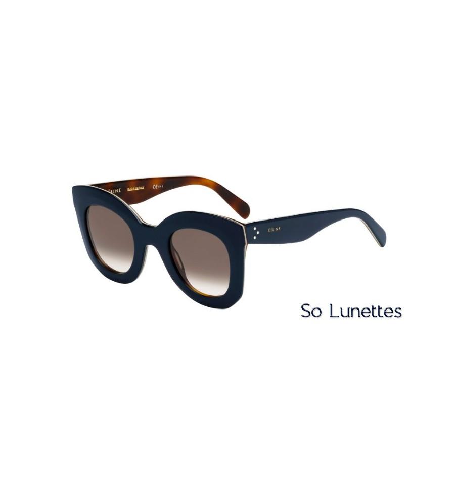 83d5734f717402 Lunettes de soleil Céline Femme CL 41093 S 273 (Z3) bleues beige havane