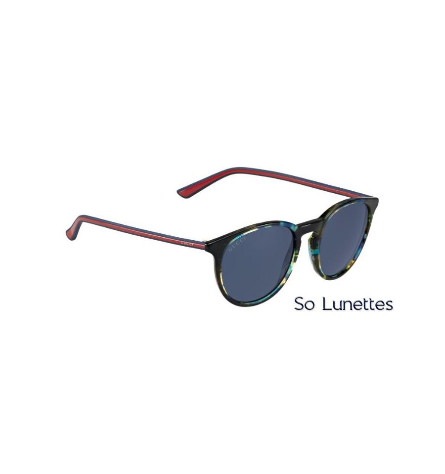 lunettes de soleil gucci homme gg 1102 s gy3 ku monture havane verres bleu avio. Black Bedroom Furniture Sets. Home Design Ideas