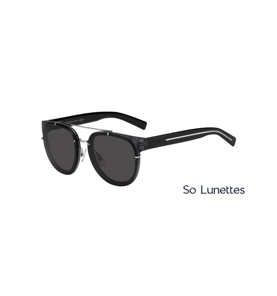 006f2e52d1b9ab Lunettes de soleil Dior BLACKTIE143S AUN (Y1) monture noire grise ...