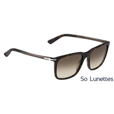 Lunettes de soleil Gucci Homme GG 1104 S GYX (CC) monture havane ... 2c1e20490bd5