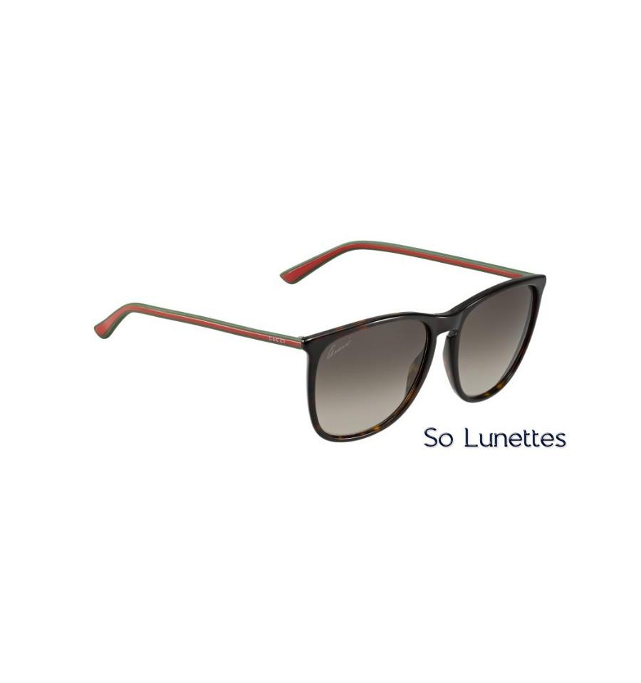 Lunettes de soleil Gucci Femme GG 3767 S GXZ (HA) havane, vert ... cce5070d1250