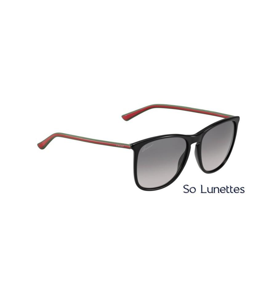 62aaa9a895959a Lunettes de soleil Gucci Femme GG 3767 S MJ9 (EU) noir, vert, rouge ...