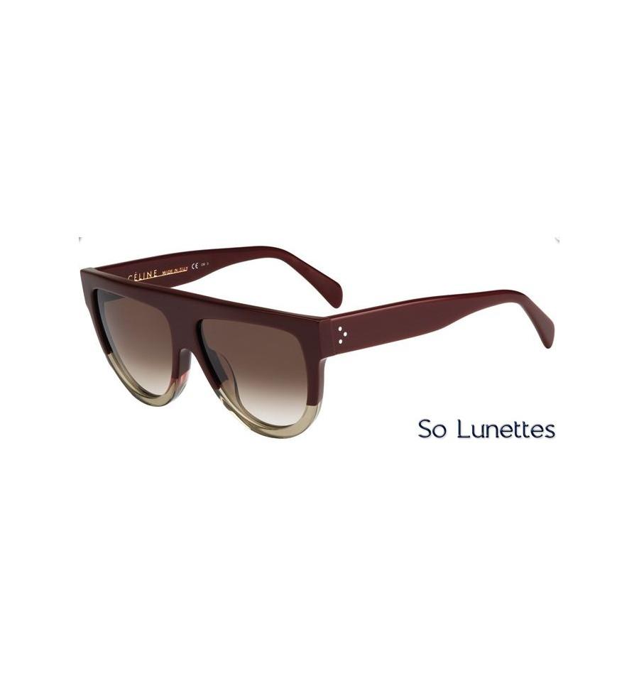 f56f54150d6fe6 Lunettes de soleil Céline CL 41026 S JAH (X9) aubergine, brune opale