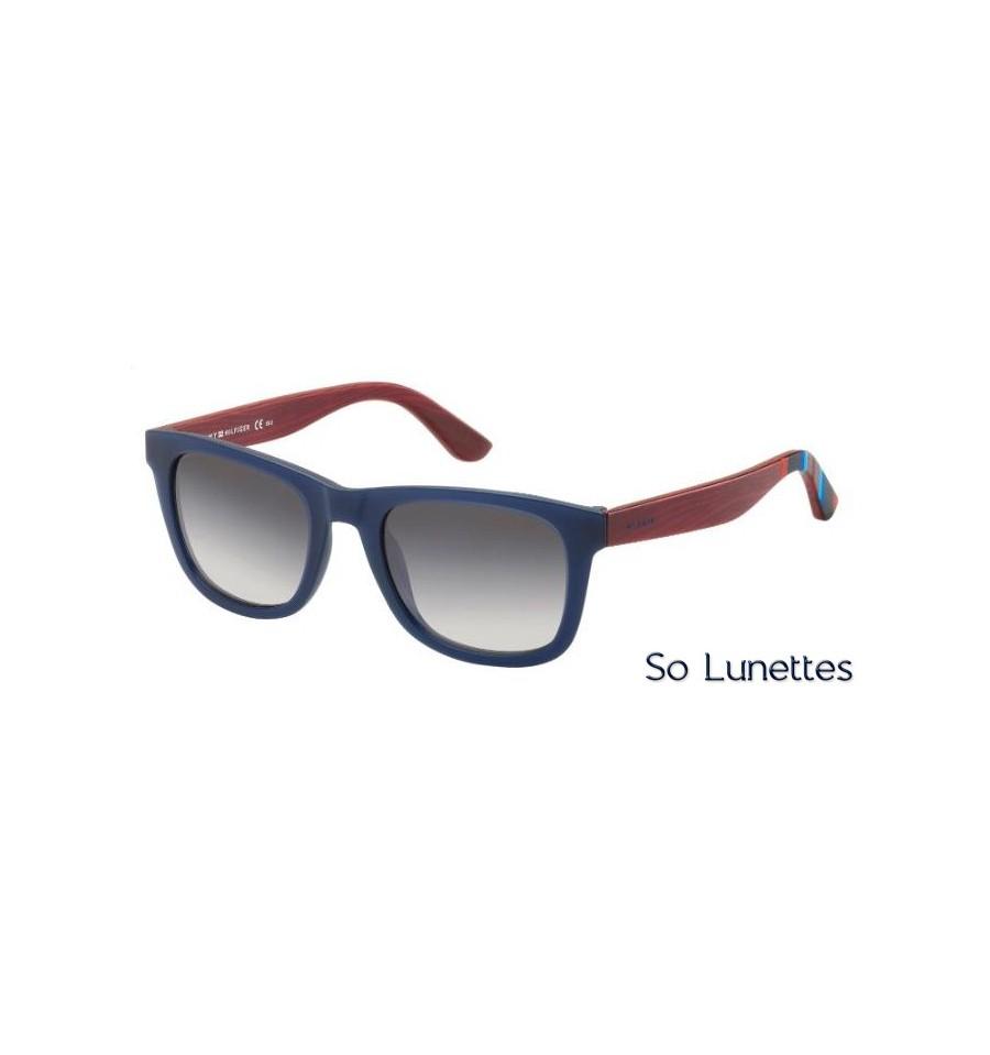 6eacf9db01ce Lunettes de soleil Tommy Hilfiger TH 1313 S X2D (EU) monture bleue ...