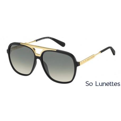 Lunettes de soleil Marc Jacobs Homme MJ 618S I46 (DX) noire dorée