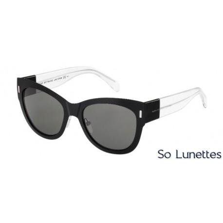 lunettes de soleil marc by marc jacobs femme mmj 467 s 6uo y1 noir transparent verres gris uni. Black Bedroom Furniture Sets. Home Design Ideas