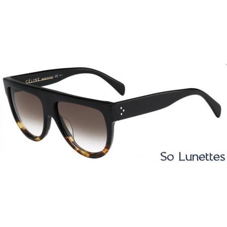 Lunettes de soleil Céline CL 41026/S FU5 (5I) noires tortue havane