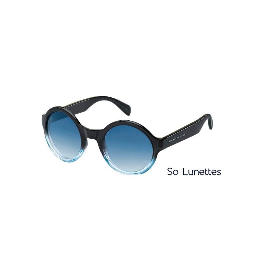 lunettes de soleil marc by marc jacobs femme mmj 475 s gvu 08 bleu et noir d grad s verres. Black Bedroom Furniture Sets. Home Design Ideas