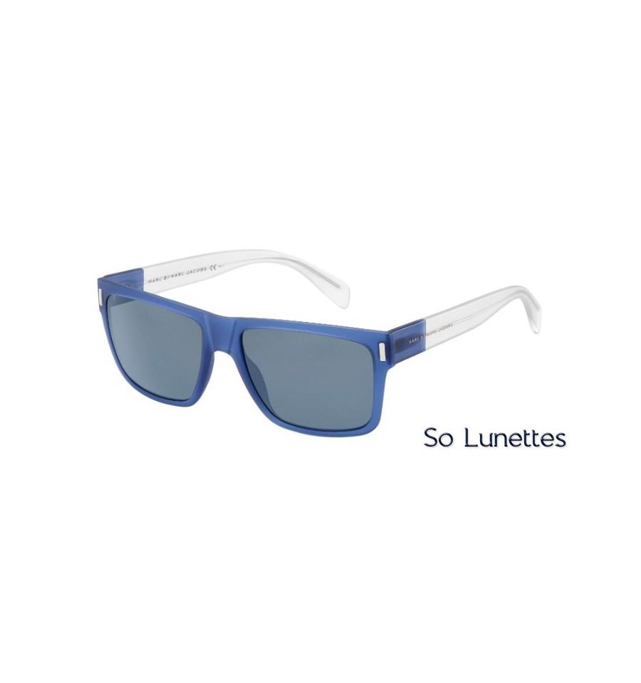 lunettes de soleil marc by marc jacobs mmj 468 s b48 72 bleu cristal verres gris. Black Bedroom Furniture Sets. Home Design Ideas