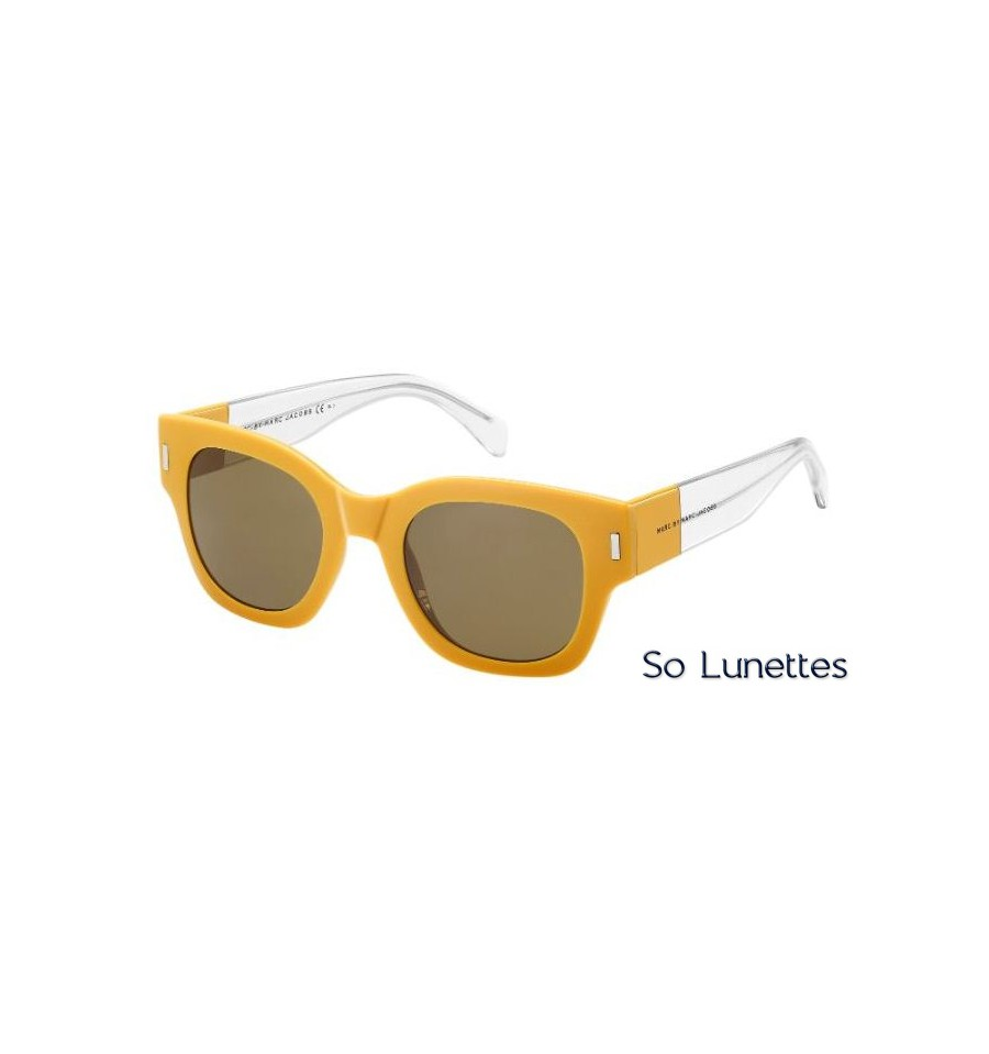 lunettes de soleil marc by marc jacobs femme mmj 469 s b1f x7 ocre cristal verres marron. Black Bedroom Furniture Sets. Home Design Ideas