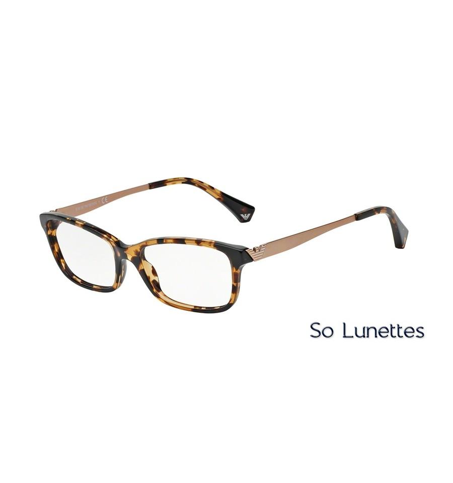 Lunettes de vue Emporio Armani Femme Essential Leasure 0EA3031 jaune havane 13a23cab6733