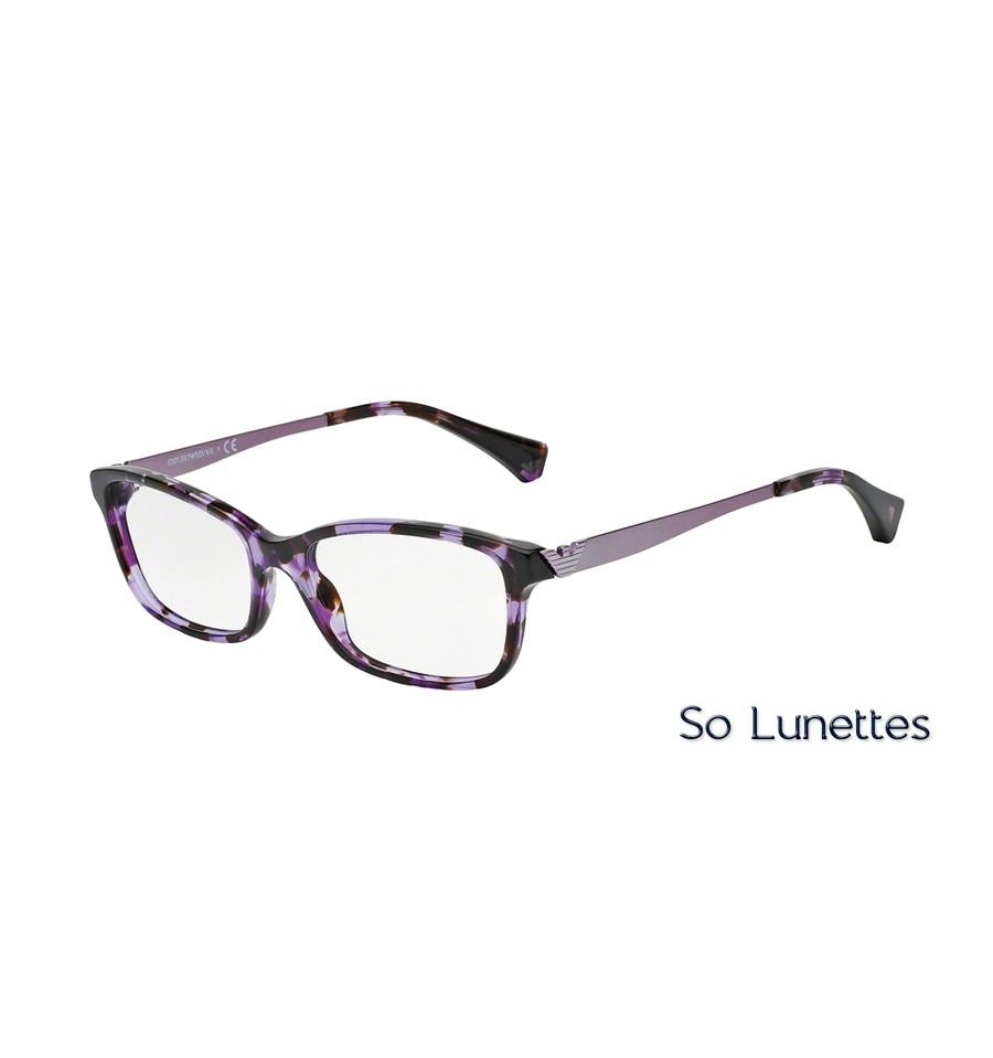 5bb73659b93de Lunettes de vue Emporio Armani Femme Essential Leasure 0EA3031 violet havane