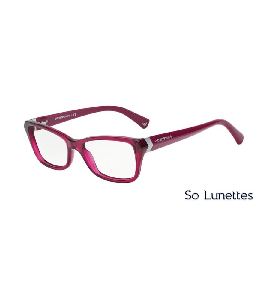 lunettes de vue emporio armani femme essential leasure 0ea3023 5199 monture pourpre et rouge. Black Bedroom Furniture Sets. Home Design Ideas