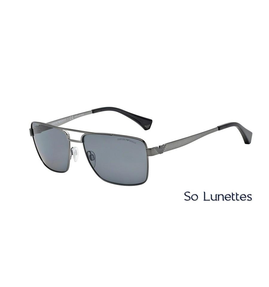 Lunettes de soleil Emporio Armani Homme Essential Leasure 0EA2019 monture  gunmetal mat 7b5877147c68