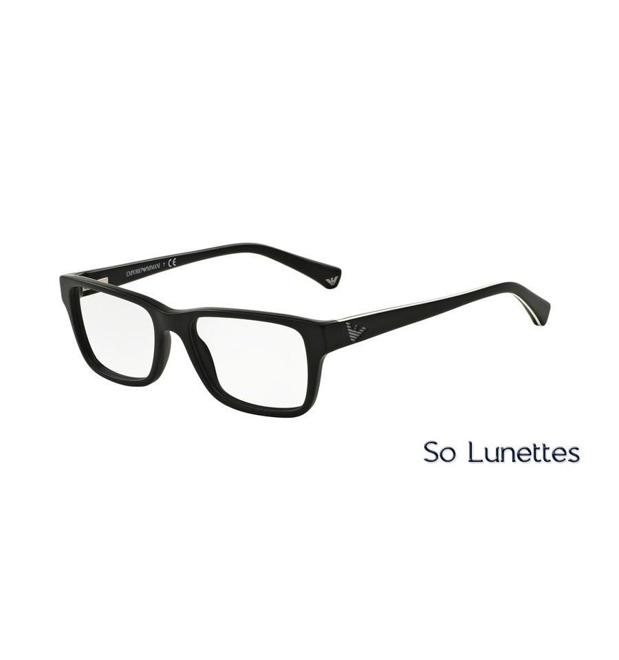 b8c5b0b6876e2 Lunettes de vue Emporio Homme Essential Leasure OEA3057 5364 noir mat