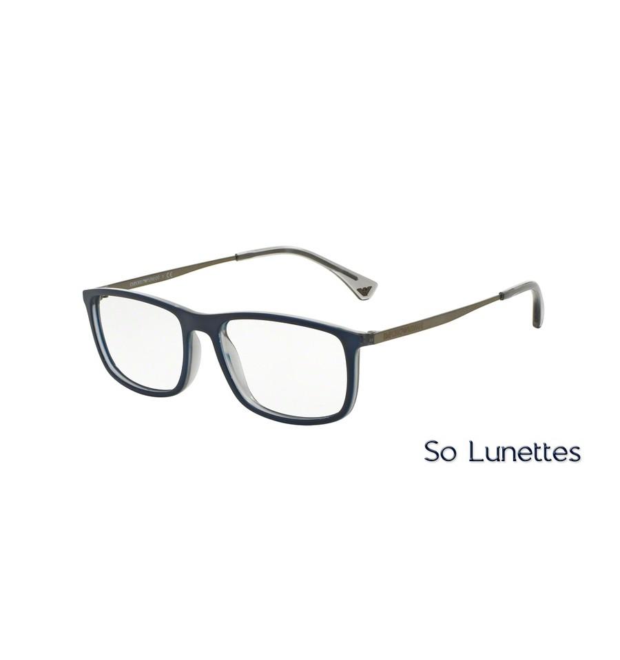 5a5728715a06f Lunettes de vue Emporio Armani Homme EA3070 5469 monture Bleue