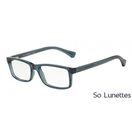 lunettes de vue emporio armani homme ea3065 5373 monture bleue. Black Bedroom Furniture Sets. Home Design Ideas