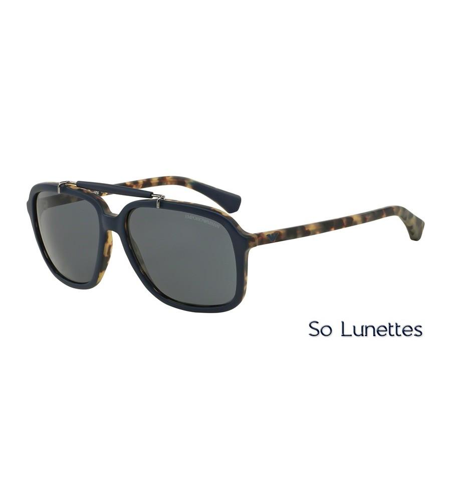 lunettes de soleil emporio armani homme ea4036 527287 monture bleue verres grises. Black Bedroom Furniture Sets. Home Design Ideas