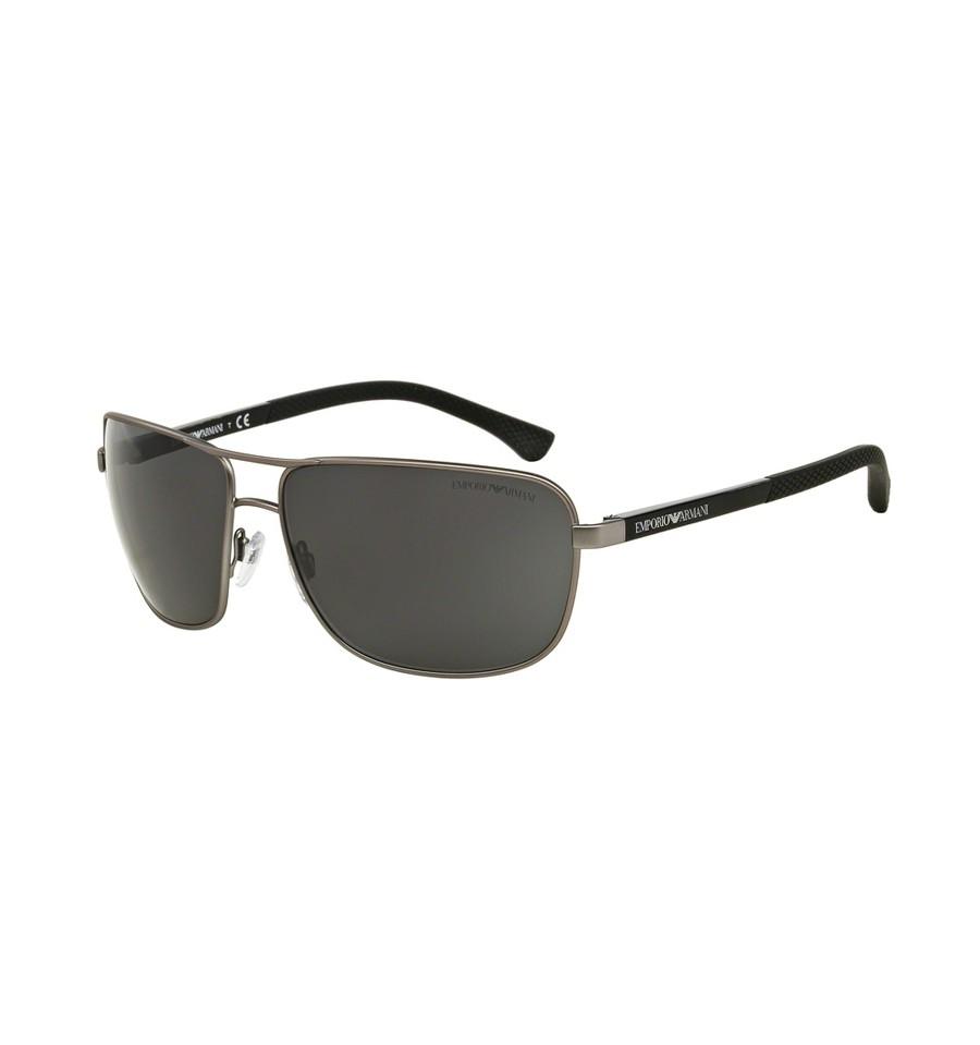 lunettes de soleil emporio armani homme ea2033 313087 monture gunmetal verres grises. Black Bedroom Furniture Sets. Home Design Ideas