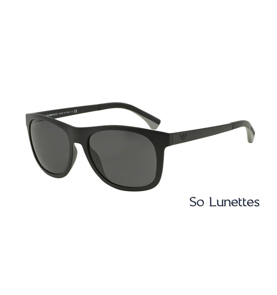 e30e0a1a9f6 Lunettes de soleil Emporio Armani Homme EA4034 504287 monture Noire ...