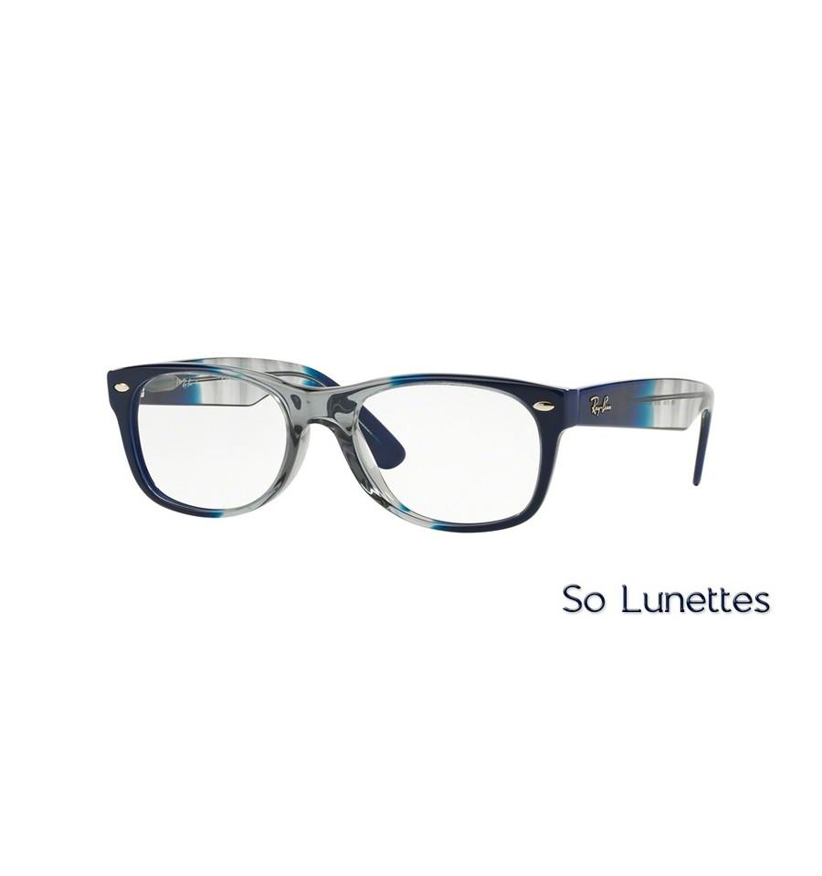 2c65324283f809 Lunettes de vue Ray-Ban NEW WAYFARER RX5184 5516 monture Bleue