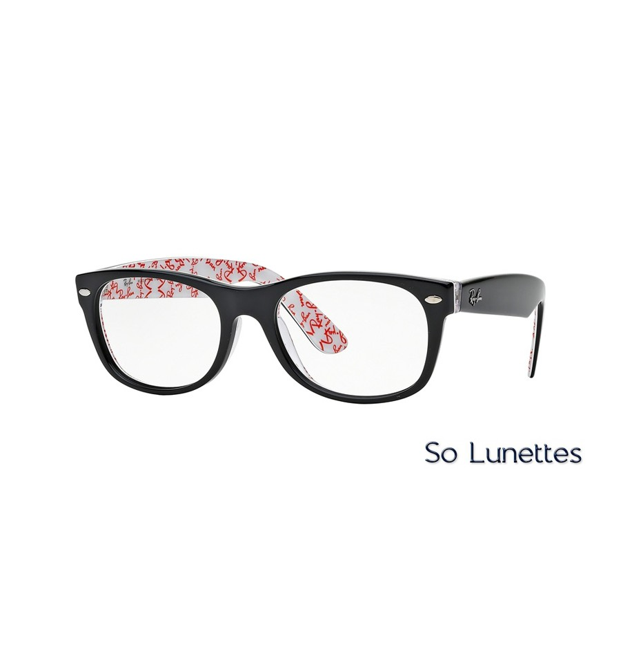 52b2994dd216f4 Lunettes de vue Ray-Ban New Wayfarer RX5184 5014 monture Noire