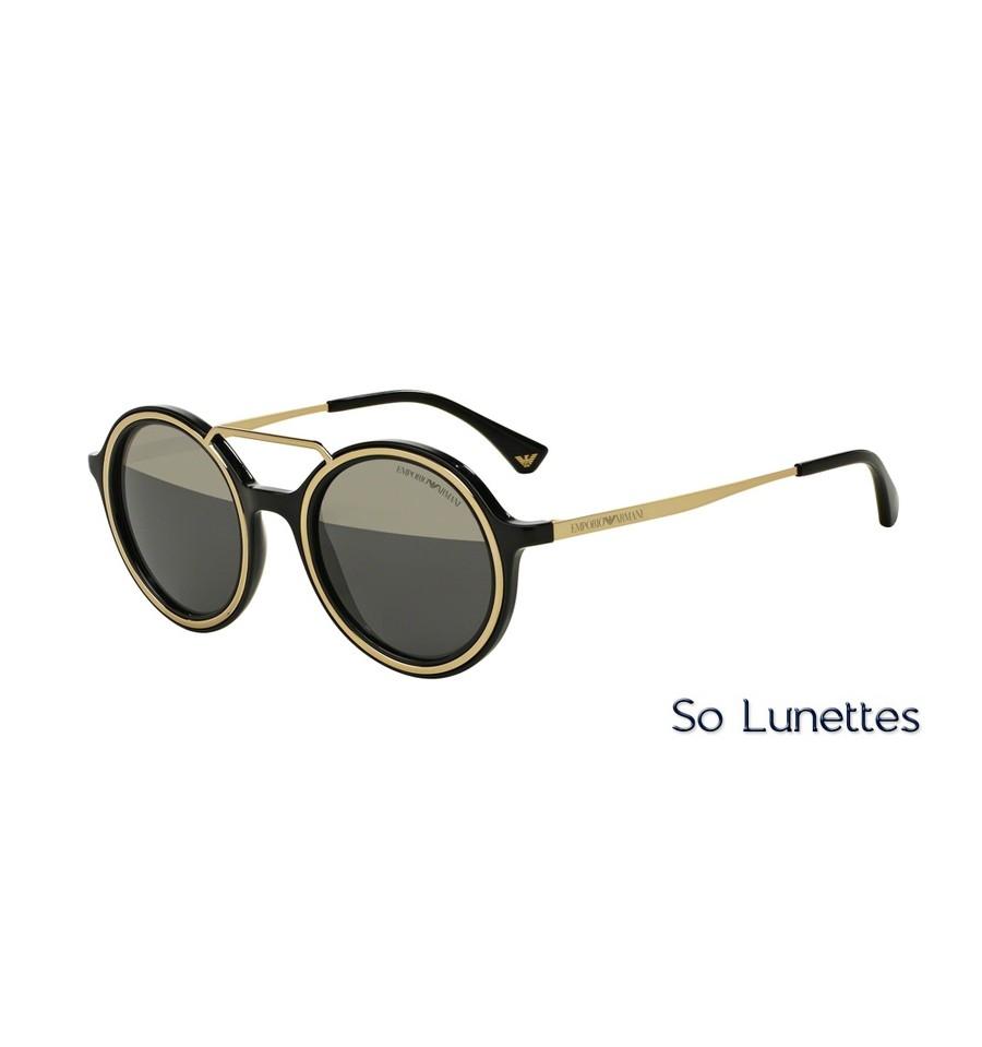 Lunettes de soleil Emporio Armani Homme EA4062 50171Z monture Noire ... 70564761c5a2